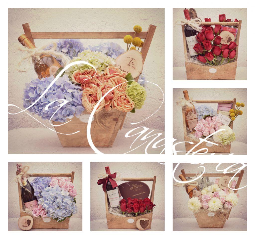 arreglos florales vintage en puebla, arreglos florales originales en puebla, arreglos florales en puebla con botellas de vino, arreglos florales la canasteria